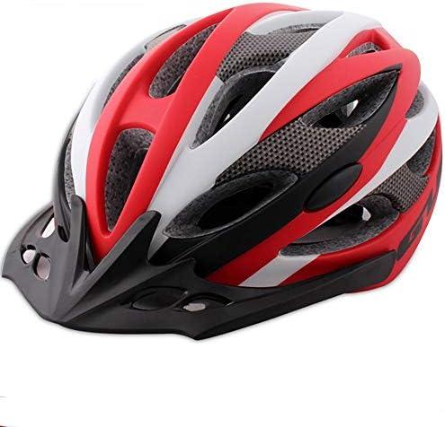 大人用自転車ヘルメット 乗馬用品サイクリングヘルメット統合オスとメスのマウンテンバイク自転車ヘルメット スポーツ 大人 男女兼用 (Color : Red, Size : L)