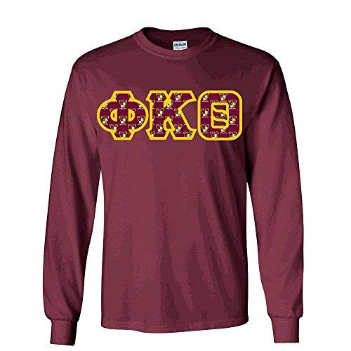 Phi Kappa Theta Fraternity Crest Twill Letter Longsleeve Tee Large ()