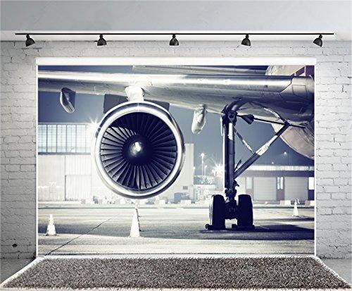 AOFOTO 8x6ft Airplane Turbine Photography Background Aero-engine Backdrop Parking Apron Tarmac Aircraft Depot Boy Girl Adult Man Woman Artistic Portrait Photoshoot Studio Props Video Drape Wallpaper (Portrait Portrait 6' Apron)