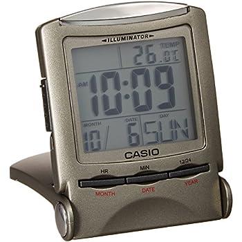 CASIO travel clock PQ-50J-8 display metallic gray Digital (Japan Import)