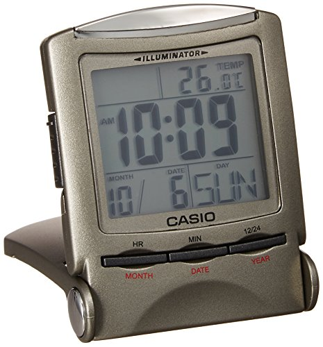 CASIO travel clock PQ-50J-8 display metallic gray Digital (Japan Import) (Casio Travel Alarm)