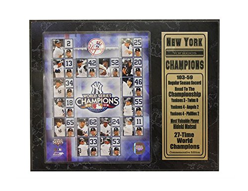 Encore Select 520-30 MLB New York Yankees 2009 World Series Champions Plaque and Nameplate, 12-Inch by 15-Inch