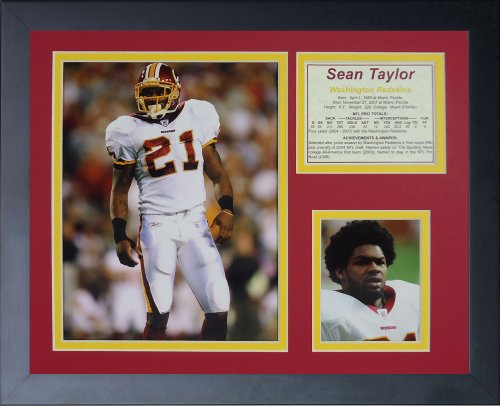 Legends Never Die Sean Taylor Away Framed Photo Collage, 11x14-Inch