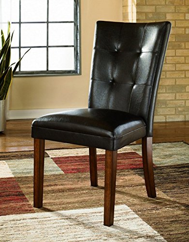 Ashley Furniture Signature Design Lacey Dining UPH Side Chair, Medium Brown Finish, Set of - High Dining Side Chair