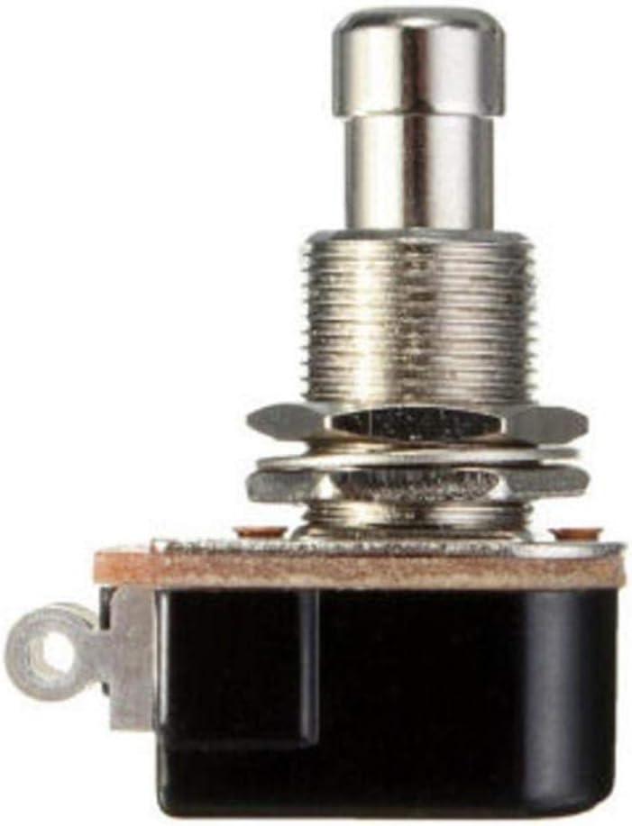 Odoukey Botón de Efectos de Guitarra Pedal de PBS-24b-4 instantánea botón del Interruptor del Pedal de Guitarra Accesorios Negro