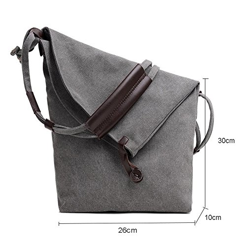 Handbag Simple Totes Women's Students ELEOPTION Canvas Bag Bag Hobo For Women Shoulder V Brown Shopper Vintage M Style Girls Gray Girl X5wwd8