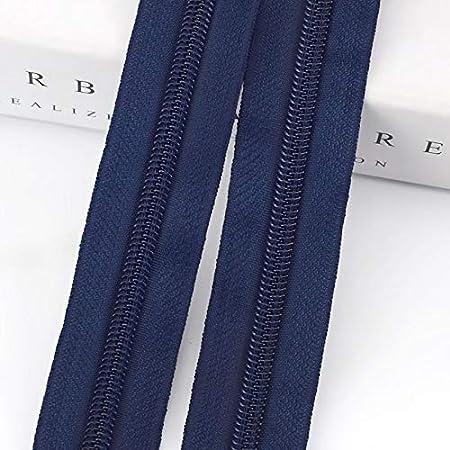 Pull cursori for casa Tessile Abbigliamento Bagagli Borse Quilt Cover Zip Accessori di Cucito Color : Beige, Size : 5M 5pcs Sliders REWD 5# 5//10 Metri di Nylon della Chiusura Lampo