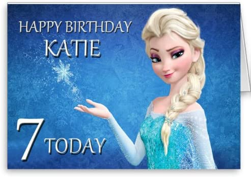 Pleasant Personalised Disney Frozen Elsa Birthday Card Amazon Co Uk Funny Birthday Cards Online Barepcheapnameinfo