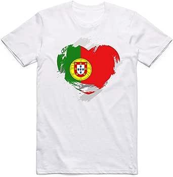 White Portugal Flag T-Shirt For Men