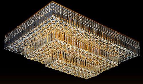 Plafoniere Rettangolari Cristallo : Led lampada di cristallo del soffitto lusso lampade
