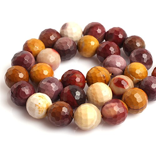 Jasper Multi Strand - Natural Round Faceted Mookaite Jasper Gemstone Loose Beads In Bulk For Jewelry Making Wholesale One Strand 15 1/2