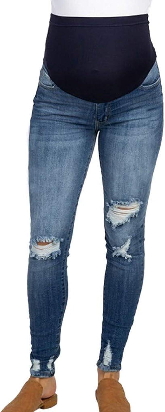 Mujer Embarazada Skinny Pantalones Suave Ajustable Denim Elastico Cuidado Vientre Gucistyle Jeans Maternidad Creeo Com Br