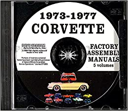1973 1974 1975 1976 1977 chevrolet corvette factory assembly instruction  manual cd in 5 volumes - includes all models  73 74 75 76 77
