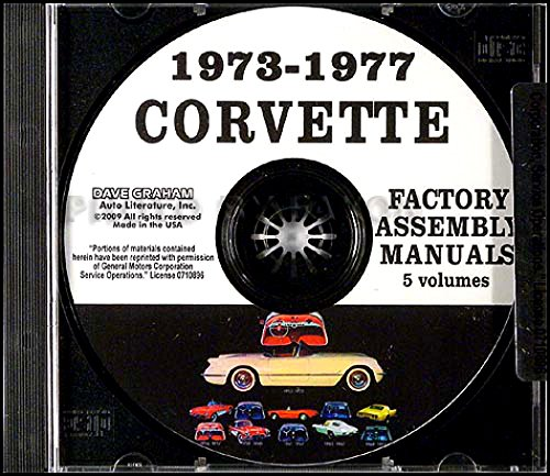 Read Online 1973 1974 1975 1976 1977 CHEVROLET CORVETTE FACTORY ASSEMBLY INSTRUCTION MANUAL CD IN 5 VOLUMES - INCLUDES ALL MODELS. 73 74 75 76 77. CHEVY VETTE pdf epub