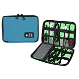Universal Cable Organizer - Electronics Accessories Case USB Drive Shuttle-an All in One Travel Organizer - (Blue)