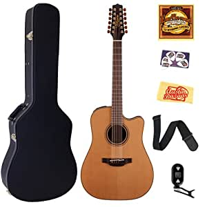 takamine p3dc 12 pro series 3 12 string dreadnought acoustic electric guitar bundle. Black Bedroom Furniture Sets. Home Design Ideas