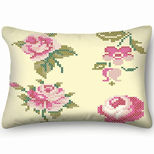 best bags Cross Stitch Roses Elements The Arts Vintage Throw Pillow Case Cushion Cover Double Side Design 20