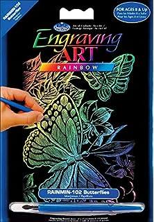 "Rainbow Foil Engraving Art Kit 8/""X10/""-Kitten /& Butterflies"