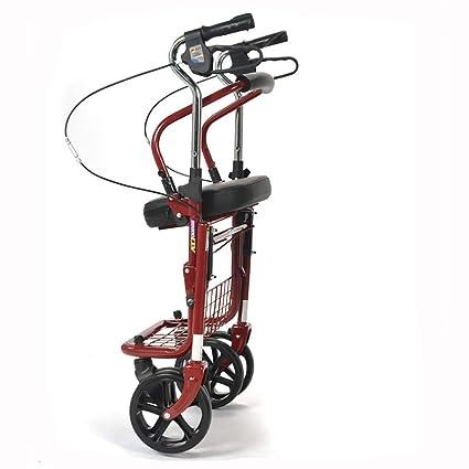 Days-Pro - Andador de 4 ruedas, ligero, plegable, con altura ...