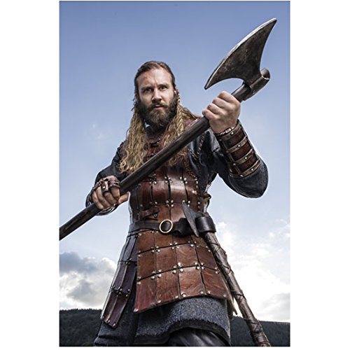 Vikings 8 x 10 Photo Clive Standen in Water Holding Two Handed Axe Pose 2 ()