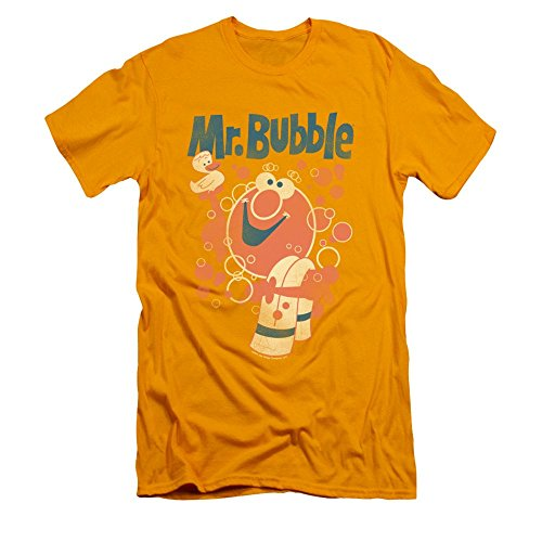 Mr Bubble Towel And Duckie Adult Slim Fit T-shirt 2xl
