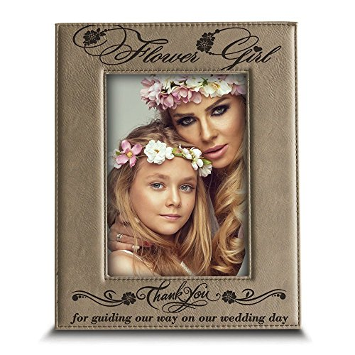 Bella Busta- Thank You for standing beside me today and always - Engraved Leather Picture Frame