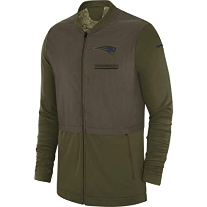 Nike New England Patriots 2018 Mens Salute to Service Hybrid Jacket (Large) e5a0fbc60