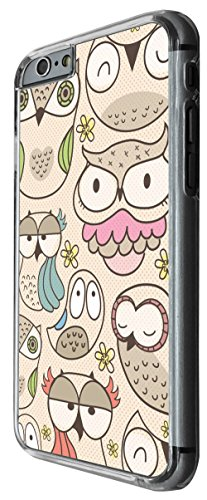 1010 - cool fun cute multi owls birds cartoon kawaii shabby chic Design For iphone 5 5S Fashion Trend CASE Back COVER Plastic&Thin Metal -Clear