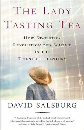 The lady tasting tea how statistics revolutionized science in the the lady tasting tea how statistics revolutionized science in the twentieth century david salsburg amazon fandeluxe Images