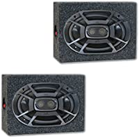Polk Audio 6x9 3-Way Marine UTV Audio Coaxial Speakers with Speaker Boxes
