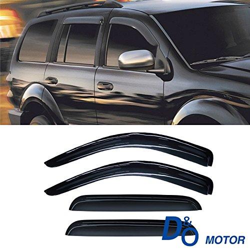 CBX Auto 4pcs Side Window Deflectors Window Visors for 98-03 Dodge Durango 00-04 Dodge Dakota Crew/Quad Cab Vent Visor Sun/Rain Guard ()