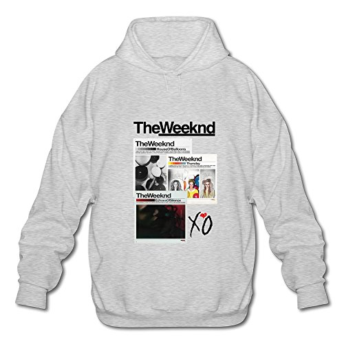 Price comparison product image HUBA Men's Sweater The Weeknd House Of Balloons-echoes Silence Ash Size S