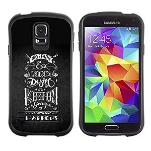 Suave TPU GEL Carcasa Funda Silicona Blando Estuche Caso de protección (para) Samsung Galaxy S5 / CECELL Phone case / / Keep On Riding Going Black White /