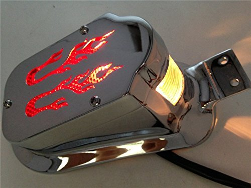 DASHUHUWAI Motorcycle Brake Tail Light Lamp Universal Fit For bikes/ Suzuki motorcycle /Curiser / Touring and custom applications, Fit most of the Bike, Motorcyle, ATV, Scooter, Curiser, Chopper, license plate holder features a dual high intensity LED taillight/brake light, Long-lasting,Super (Most Atv)