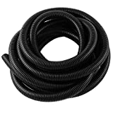 YXQ 50M Length 36mm ID Corrugated Tubing Bellows Pipe Preservative Flexible Electric Conduit Liquid NON-Split Tube Cable Cover Sleeve Wire Loom Black PE(42.5mm OD)