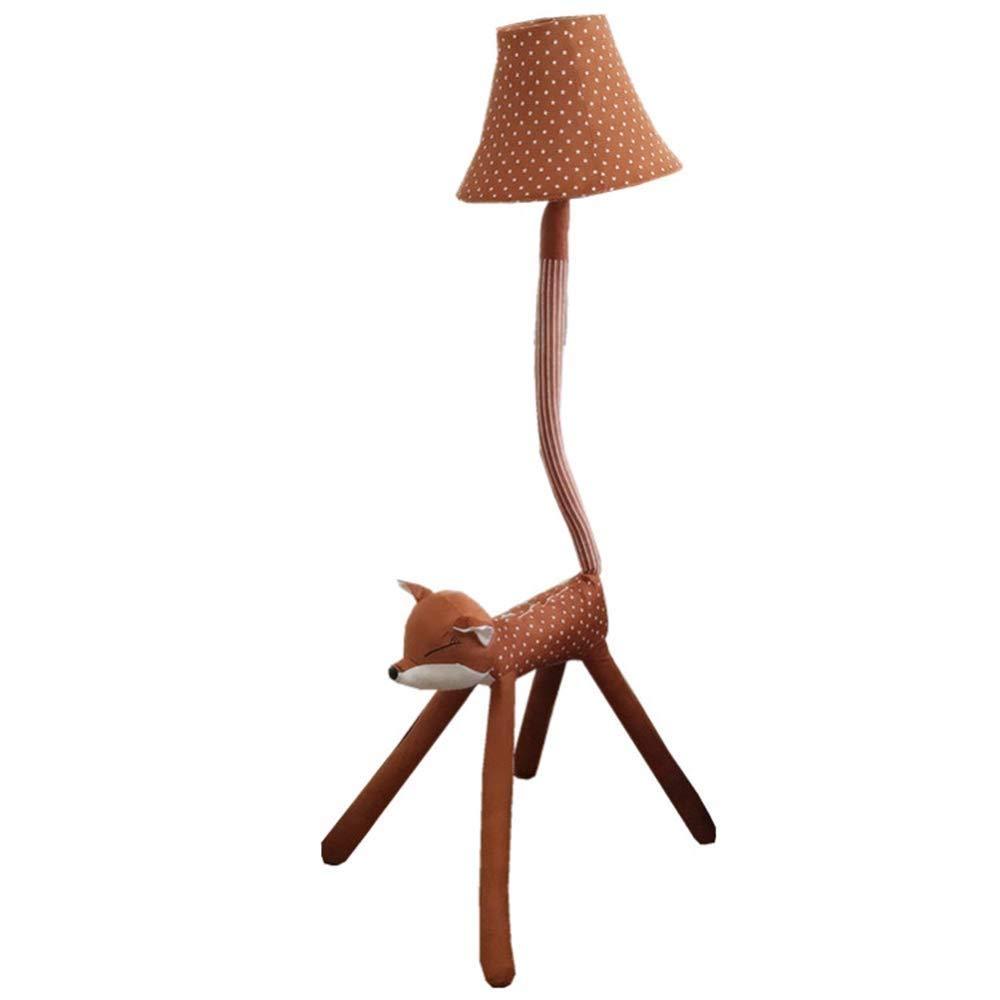 床ランプ フォックスフロアランプクリエイティブdiy漫画動物形状シンプルなリビングルーム研究寝室生地垂直ランプライト (サイズ さいず : Dimming) Dimming  B07S3FK8KM