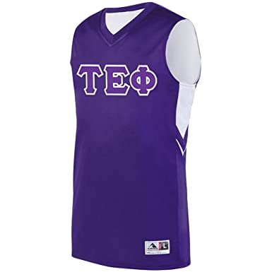 e2dd19af0 Express Design Group Tau Epsilon Phi Alley-OOP Basketball Jersey Small  Purple White