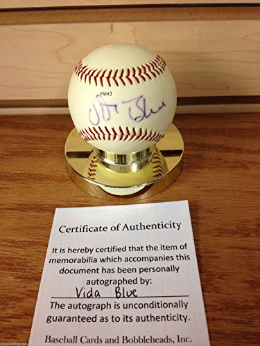vida-blue-signed-baseball-coaches-choice-debeer-baseball-w-certificate-of-authenticity