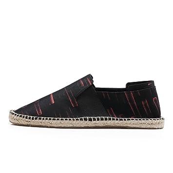 2018 New Spring Mens Canvas Shoes Moda Hemp Botines Mocasines Mochilas Low-Top transpirables GLSHI