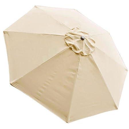 8Ft 8 Ribs Patio Umbrella Canopy Outdoor Cover Top Color Optional