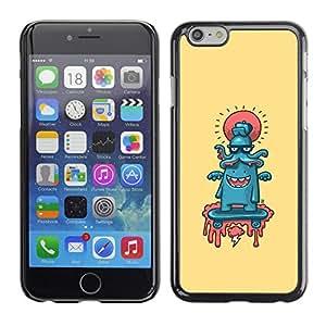 Caucho caso de Shell duro de la cubierta de accesorios de protección BY RAYDREAMMM - iPhone 6 - Pulpo abstracto
