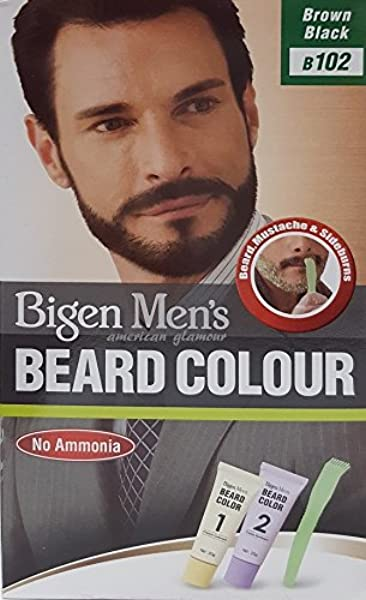 Bigen Mens Beard Colour – Tinte para barba marrón y negro ...