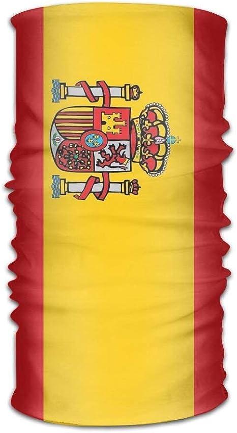 Vidmkeo Bandera española Pañuelo Bandana Cuello en el Cuello Variedad Bufanda Envoltura Exterior2: Amazon.es: Deportes y aire libre