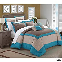 Chic Home 7-Piece Ballroom Comforter Set, Queen, Teal
