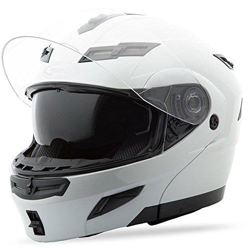 (Gmax Unisex Adult GM54S Pearl White Modular Helmet)
