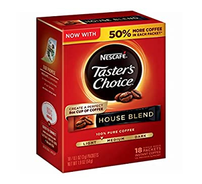 Taster's Choice Regular House Blend Instant Coffee, (Pack of 8) from Nestle
