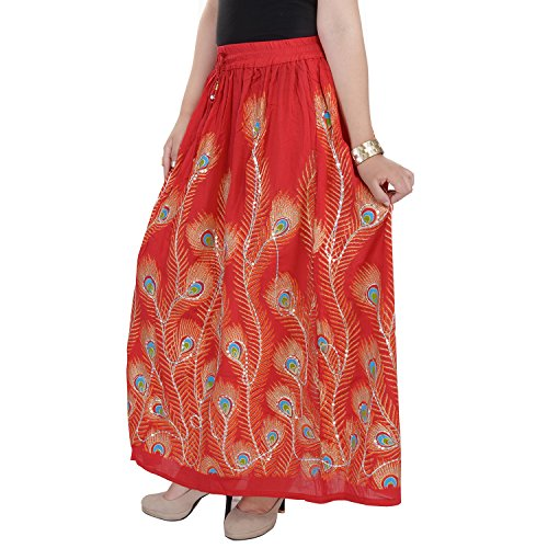 Soundarya - Jupe - Femme rouge Red