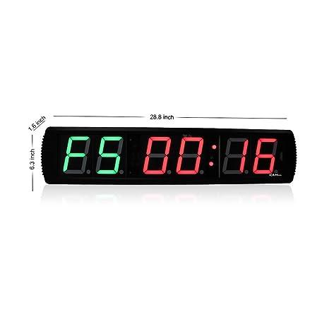 LED temporizador de intervalos de gimnasio CrossFit - wg061803 LED reloj Digital DEPORTE interior temporizador de formación gimnasio boxeo Tabata Cronómetro ...