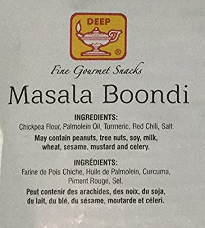 Amazon.com : Deep Boondi Variety Pack: 1) 1 Pack of Deep Plain Boondi - 340g., And, 2) 1 Pack of Deep Masala Boondi - 340g. / Total of Two Packs : Grocery ...
