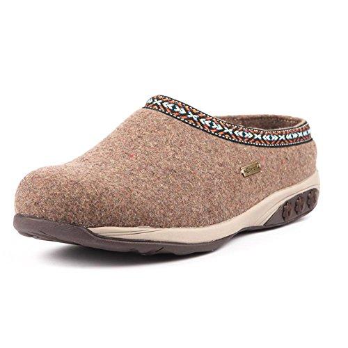 Therafit Heather Women's Indoor/Outdoor Wool Clog Slipper Tan